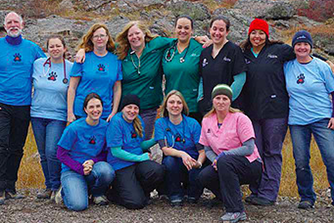 Dr. Kerr with the Canadian Animal Assistance Team